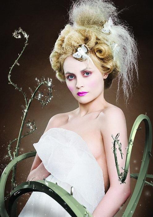 прическа и макияж в стиле рококо