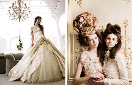 образ невесты в стиле рококо